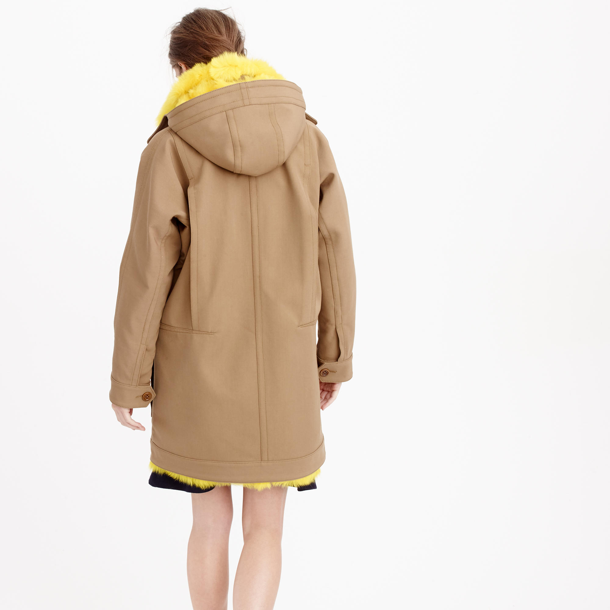 Collection coat with canary shearling lining : | J.Crew