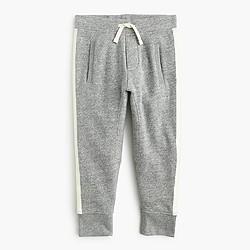 Boys' glow-in-the-dark side striped sweatpant