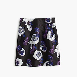 A-line mini skirt in violet poppy