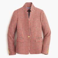Petite Regent blazer in red houndstooth plaid
