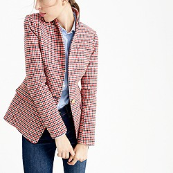 Regent blazer in red houndstooth plaid