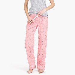 Petite cotton textured-dot pant in stripe