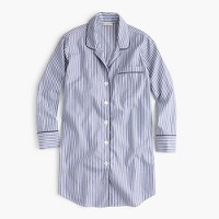 Classic nightshirt in striped vintage end-on-end cotton