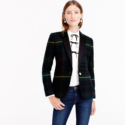 Petite Collection Campbell blazer in tartan