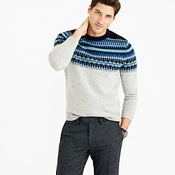 Lambswool Fair Isle sweater in navy