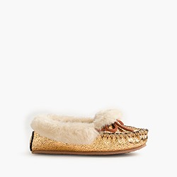 Girls' metallic slippers