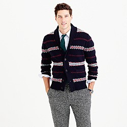 Lambswool Fair Isle cardigan sweater