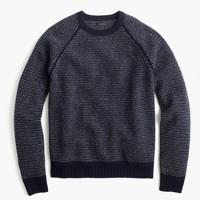 Textured lambswool sweater
