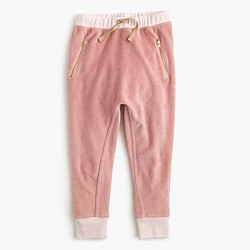 Girls' velour sweatpant