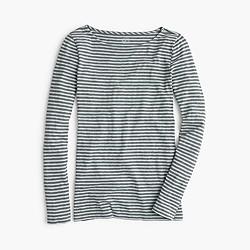 Painter boatneck T-shirt in stripe