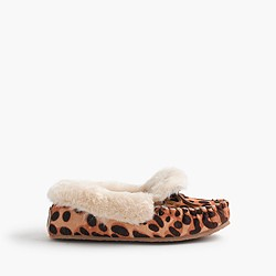 Girls' calf hair slippers