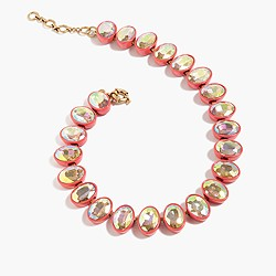 Oval crystal br�lée necklace