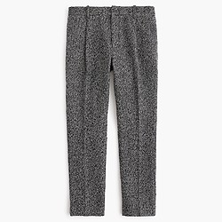 Pleated trouser in black and white tweed