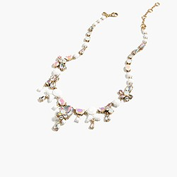 Jeweled teardrop pastiche necklace