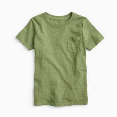 Boys' garment-dyed T-shirt