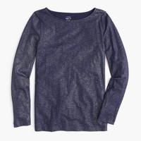 Metallic long-sleeve painter T-shirt