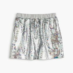 Girls' sequin pull-on skirt