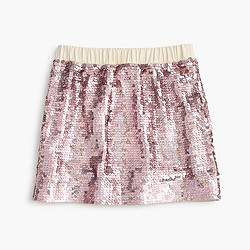 Girls' sequin pull-on skirt