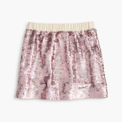 Girls' sequin pull-on skirt : | J.Crew