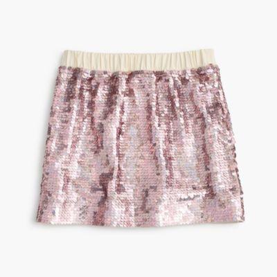 Girls' sequin pull-on skirt : | J.Crew