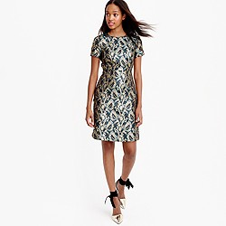 Collection metallic brocade dress