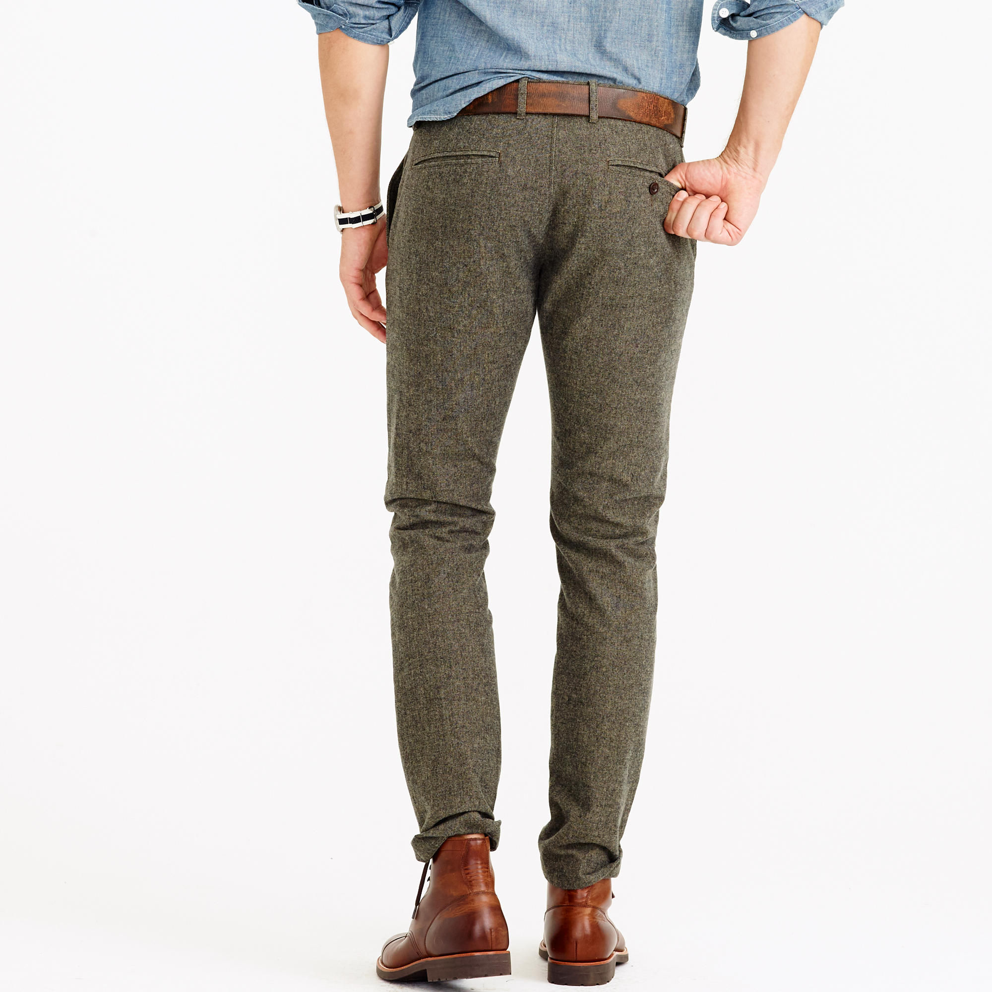 Brushed cotton twill mélange chino in 484 fit : | J.Crew