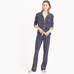Petite dreamy cotton pajama set in dot