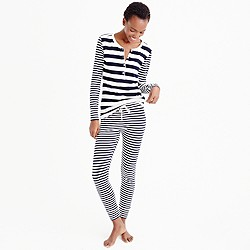 Stretch cotton sleep set in stripe