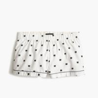 Bow flannel pajama short