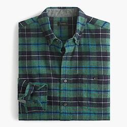 Cotton-wool elbow-patch shirt in Clark plaid