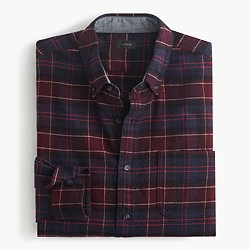 Cotton-wool elbow-patch shirt in Hayes plaid