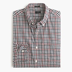Slim brushed twill shirt in district check