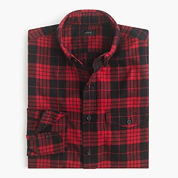 Tall brushed twill shirt in Douglas plaid