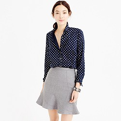 Petite perfect shirt in foil dot