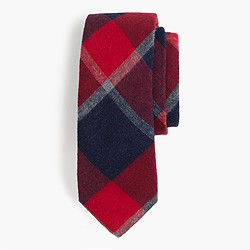The Hill-side® brushed flannel point tie in wide check