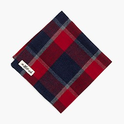 The Hill-side® brushed flannel pocket square in wide check
