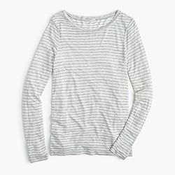 Drapey long-sleeve striped T-shirt