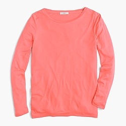 Drapey long-sleeve T-shirt