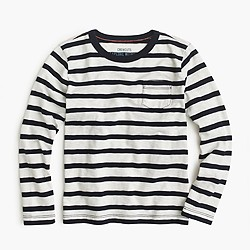 Boys' long-sleeve classic striped T-shirt