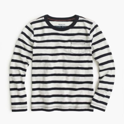 Boys' long-sleeve classic striped T-shirt