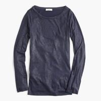Metallic perfect-fit T-shirt