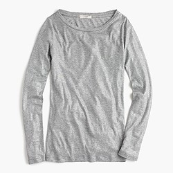 Metallic perfect-fit T-shirt