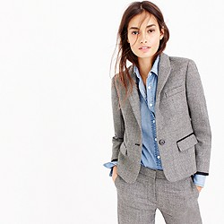 Single-button blazer in mini-dot wool
