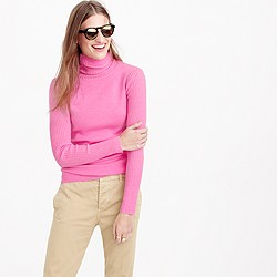 Merino turtleneck sweater with ribbed sleeves