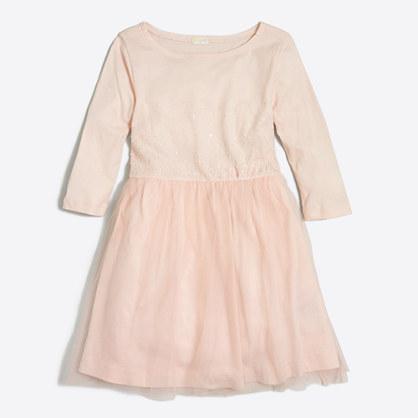 Girls' sequin tulle dress