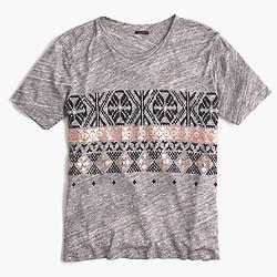 Printed Fair Isle T-shirt