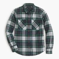 Boyfriend shirt in ridge plaid