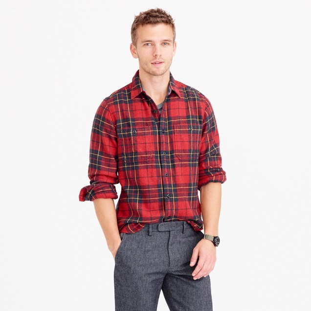 Wallace & Barnes heavyweight flannel in Brodie tartan