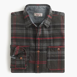 Wallace & Barnes heavyweight flannel in Harvey plaid