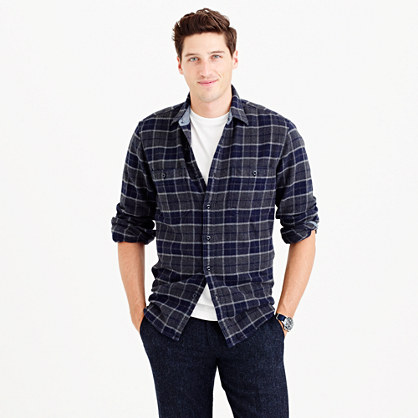 Wallace & Barnes heavyweight flannel in Lenox plaid